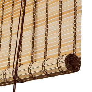 bamboo blinds brown color