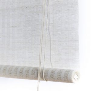 white bamboo curtains