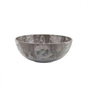 Stor skål i artstone fra Bahne Interior. Artstone fremstilles af en blanding af syntetiske materialer og sten