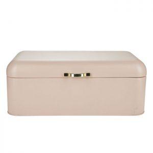 Brødkasse i mat rosa fra Bahne Interior. Den enkle og stilrene brødkasse er fremstillet i jern og passer ind i ethvert køkken.Find den i flere farver.