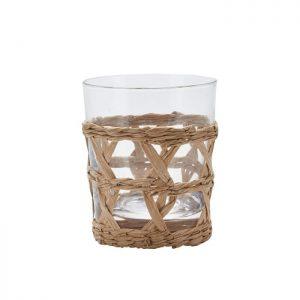Skønt glas med en fin holder. Brug glasset til både kolde og varme drikke. Match med karaflen og glasset i mindre størrelse fra samme serie.Glasset måler H: 10 x D: 8 cm.