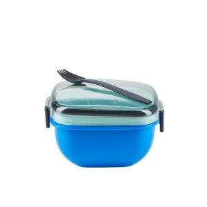 Smart madkasse med tilhørende gaffel fra Bahne Interior. Tag din morgenmad eller frokost med på farten i denne smarte box. Tag den med hjem igen og genbrug den. Nemt