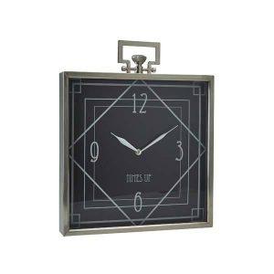 """Elegant ur fra Bahne med håndtag og teksten """"Time is up""""."""