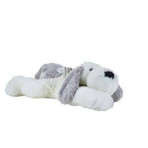 Bamsen er en plysset hund med lange ører. Bamsen måler 56 cm og er derfor en større bamse